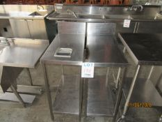 """LOT Including s/s table & s/s table w/ insert (approx. 15""""w x 29""""d x 42""""h)"""