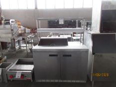 DELFIELD (2) door refrigerated sandwich prep table (mod: 4448N-8) 115V, 60Hz, 1HP, 7.2A, approx.