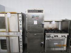 """NU-VU (2) door smoker (mod: SMOKE 13) 240V, 1HP, 60Hz, 20.5A, approx. 28""""w x 36""""d x 74""""h"""