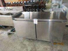 "DELFIELD freezer (mod: GUF60P-S) 115V, 6.4A, 1PH (approx. 5ft w x 30""d x 34""h)"