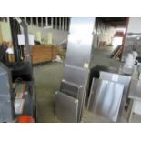 """LOT Including S/S Storage Shelves in assorted sizes. Approx. (79"""", 67"""", 43"""", 31"""", 24"""")"""