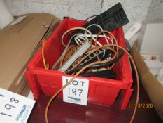 LOT Including (7) power bars, Dell keyboard & (2) power cords
