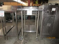 """THORINOX s/s table on wheels (approx. 24""""w x 30""""d x 38""""h)"""