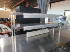 """(3) section slide check rack (approx. 64""""w x 12""""d x 28""""h)"""