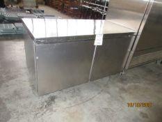 "DELFIELD (2) door refrigerator (mod: GUR60P-S), 115V, 3.2A, 1PH (approx. 60""w x 30""d x 34""h)"