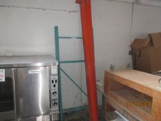 LOT Industrial racking including (4) uprights (approx. 6ft) and (4) bars (approx. 8ft)