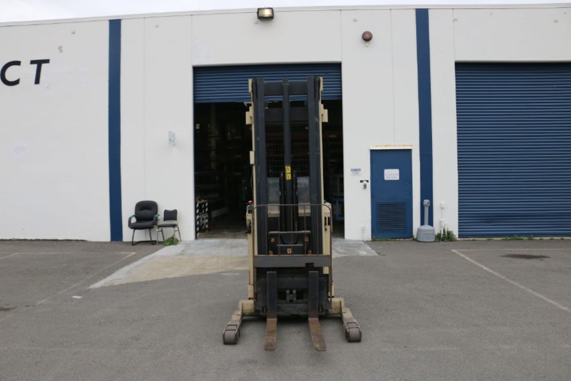 Lot 97 - Crown 35RRTT 3500Lbs. Standing Electric Forklift, s/n 1A122215
