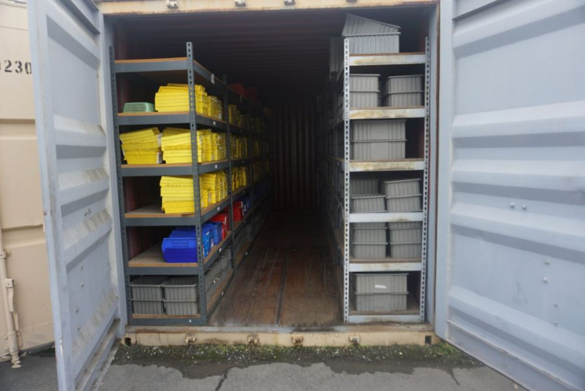 Lot 92 - 20' x 8' x 6.5' Shipping Container with Racking