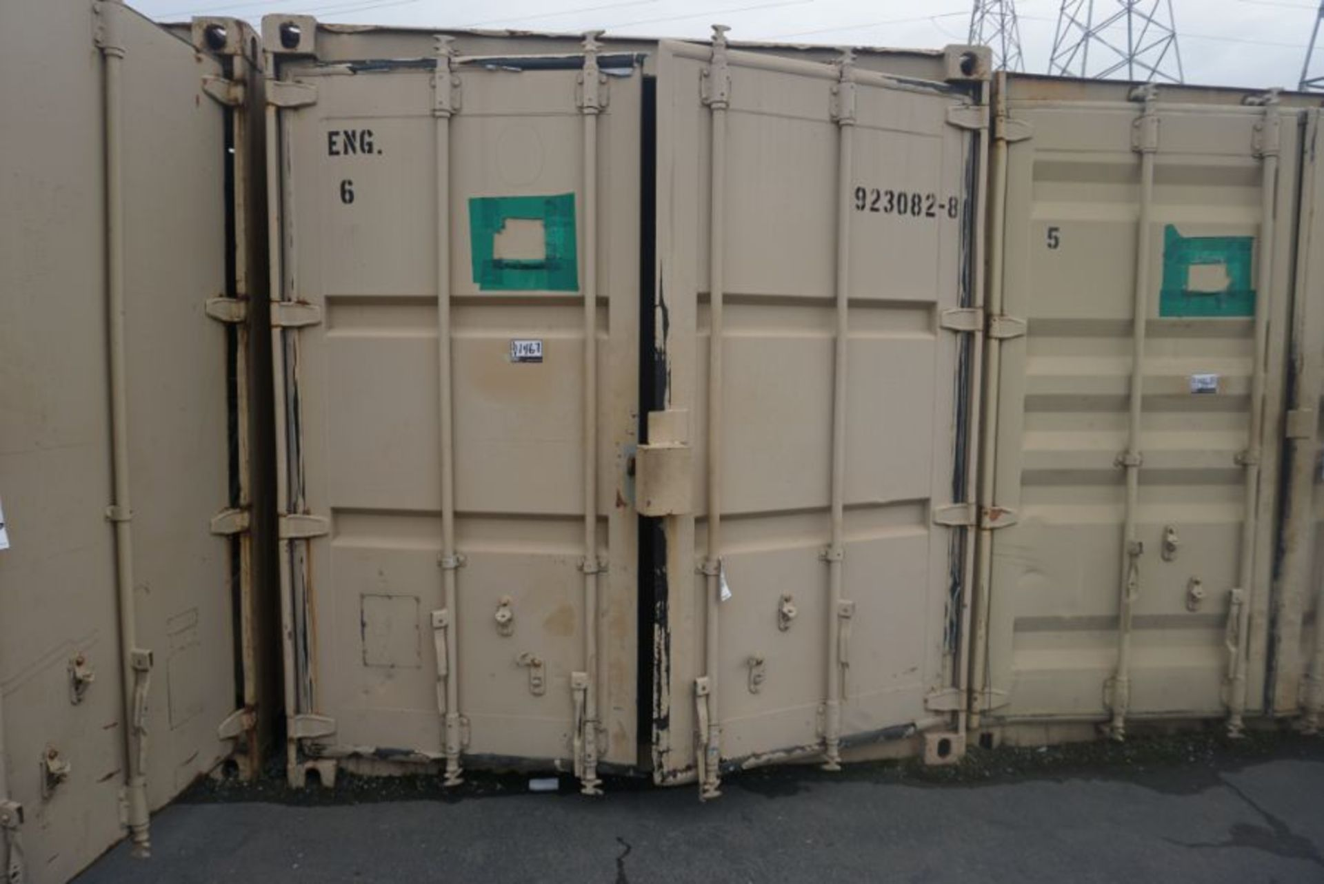 Lot 91 - 20' x 8' x 6.5' Shipping Container with Racking & Cubbies