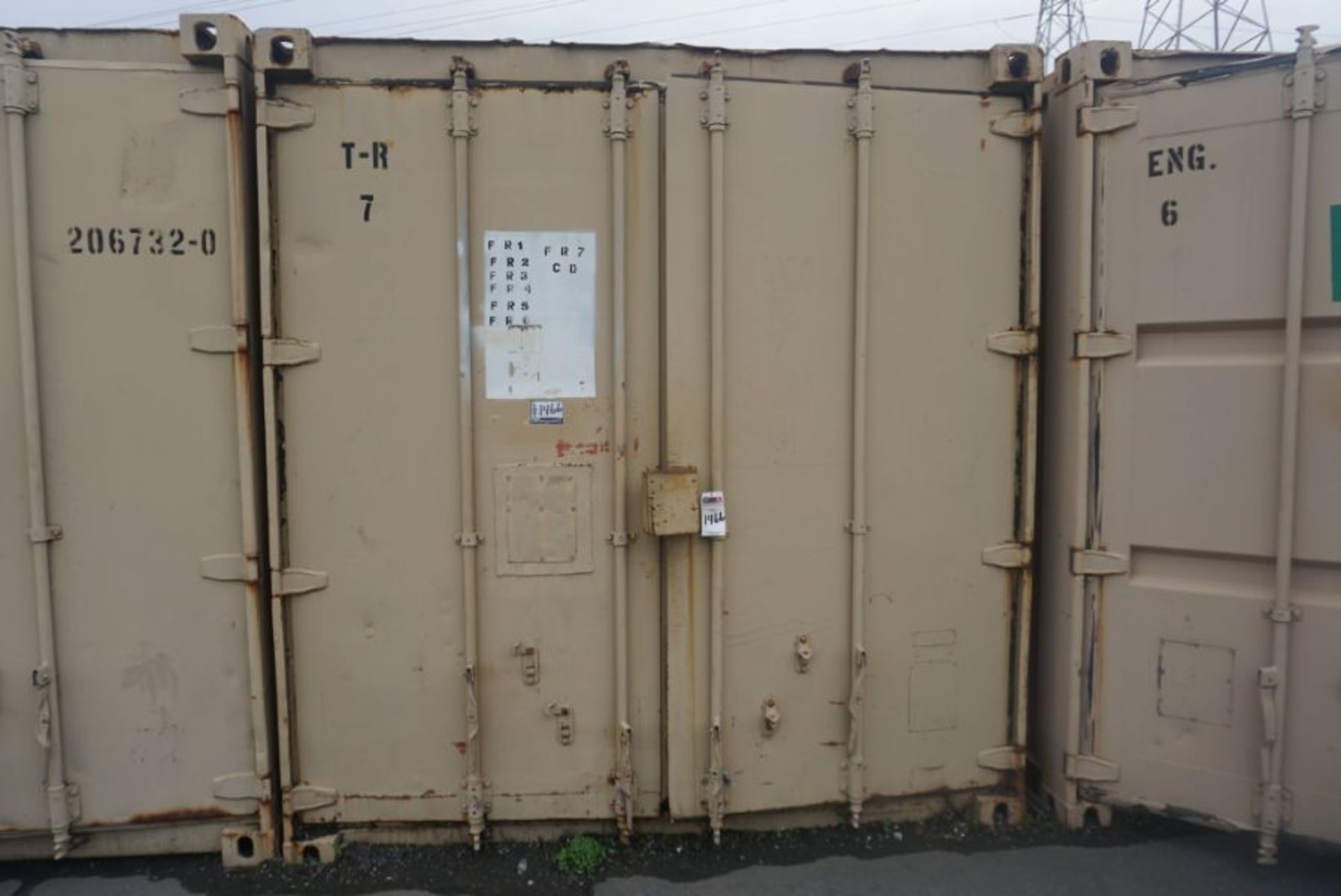 Lot 90 - 20' x 8' x 6.5' Shipping Container with Racking & Cubbies
