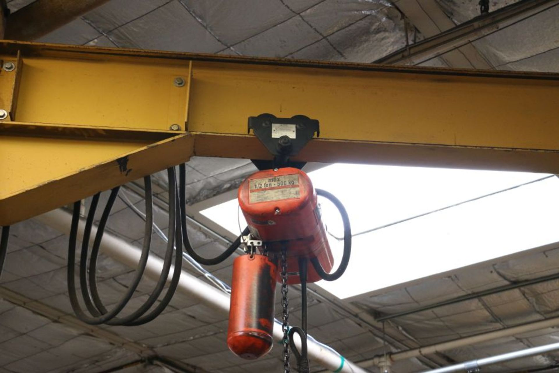 Lot 99 - 1/2 Ton Jib Crane with 1/2 Ton CM Lodestar Hoist