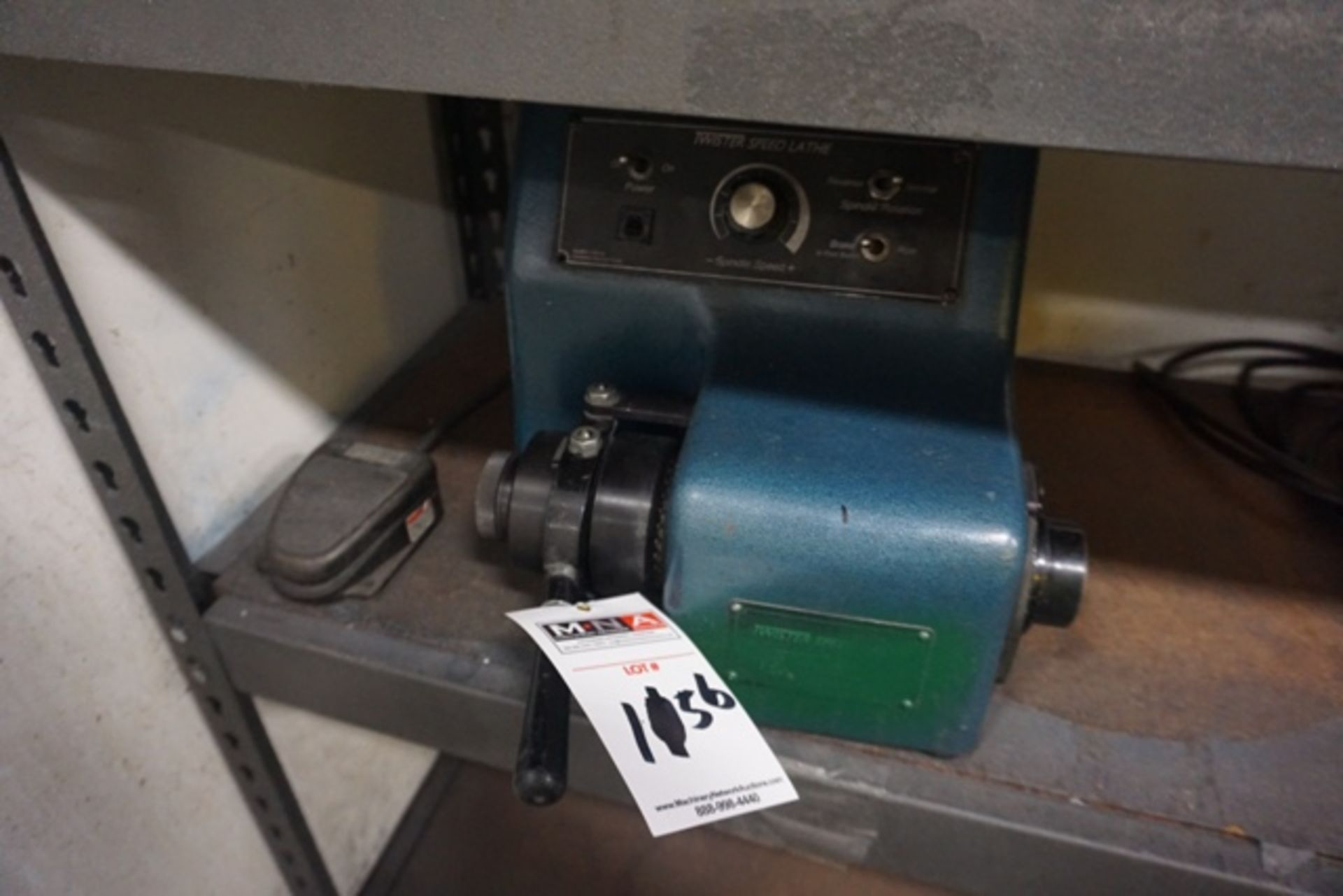 Lot 1156 - Overbeck Machine LT-1B Twister Speed Lathe, 5C Collet Bench Top Lathe