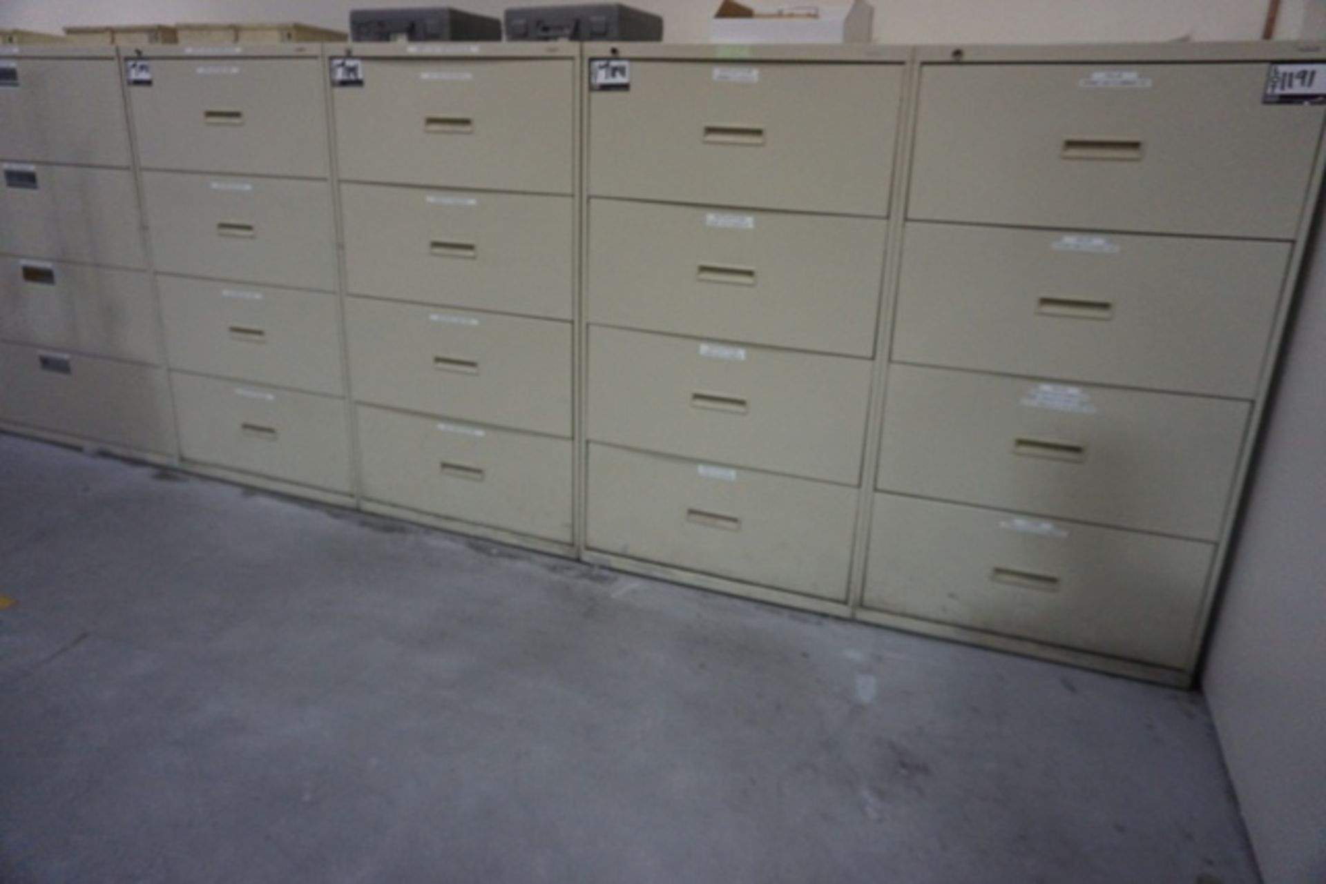 Lot 1191 - Assorted 4 Drawer File Cabinets