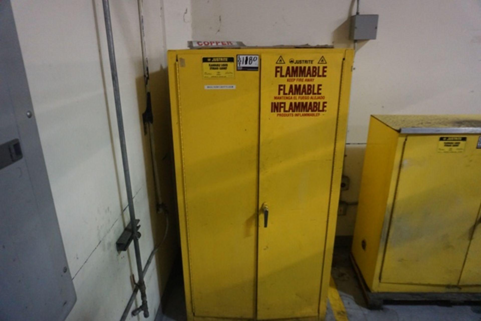 Lot 1180 - Justrite 60 Gal. Cap. Flammable Liquid Storage Cabinet