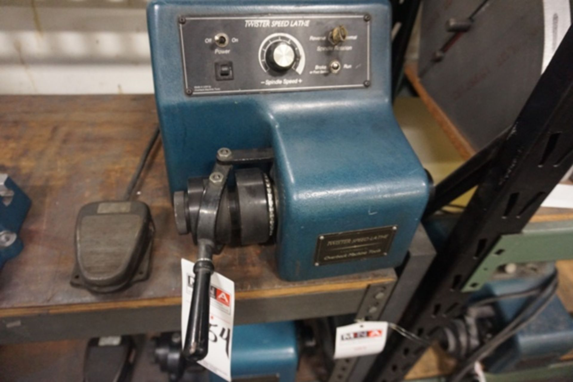 Lot 1154 - Overbeck Machine LT-1B Twister Speed Lathe, 5C Collet Bench Top Lathe