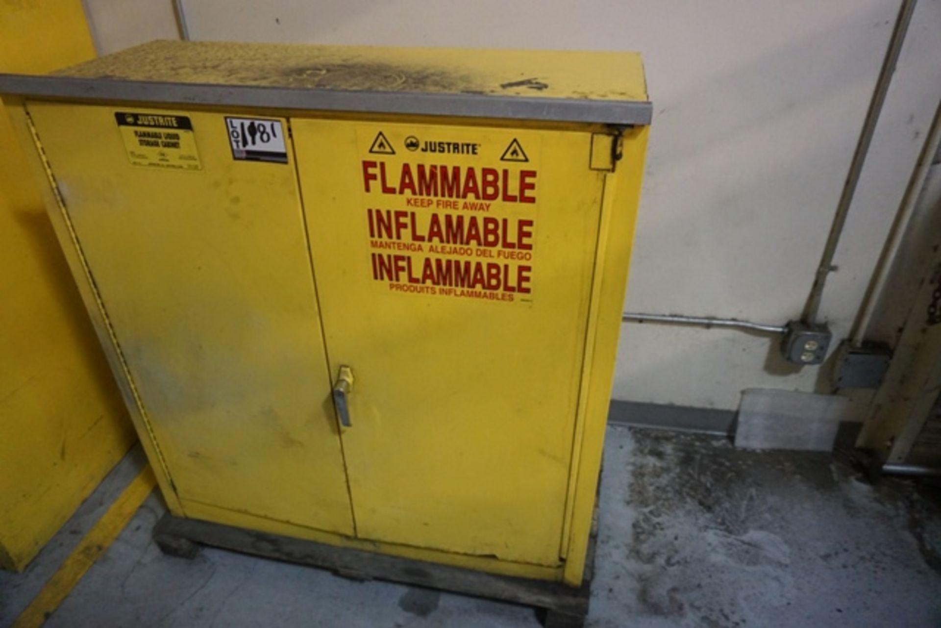 Lot 1181 - Justrite 30 Gal. Cap. Flammable Liquid Storage Cabinet