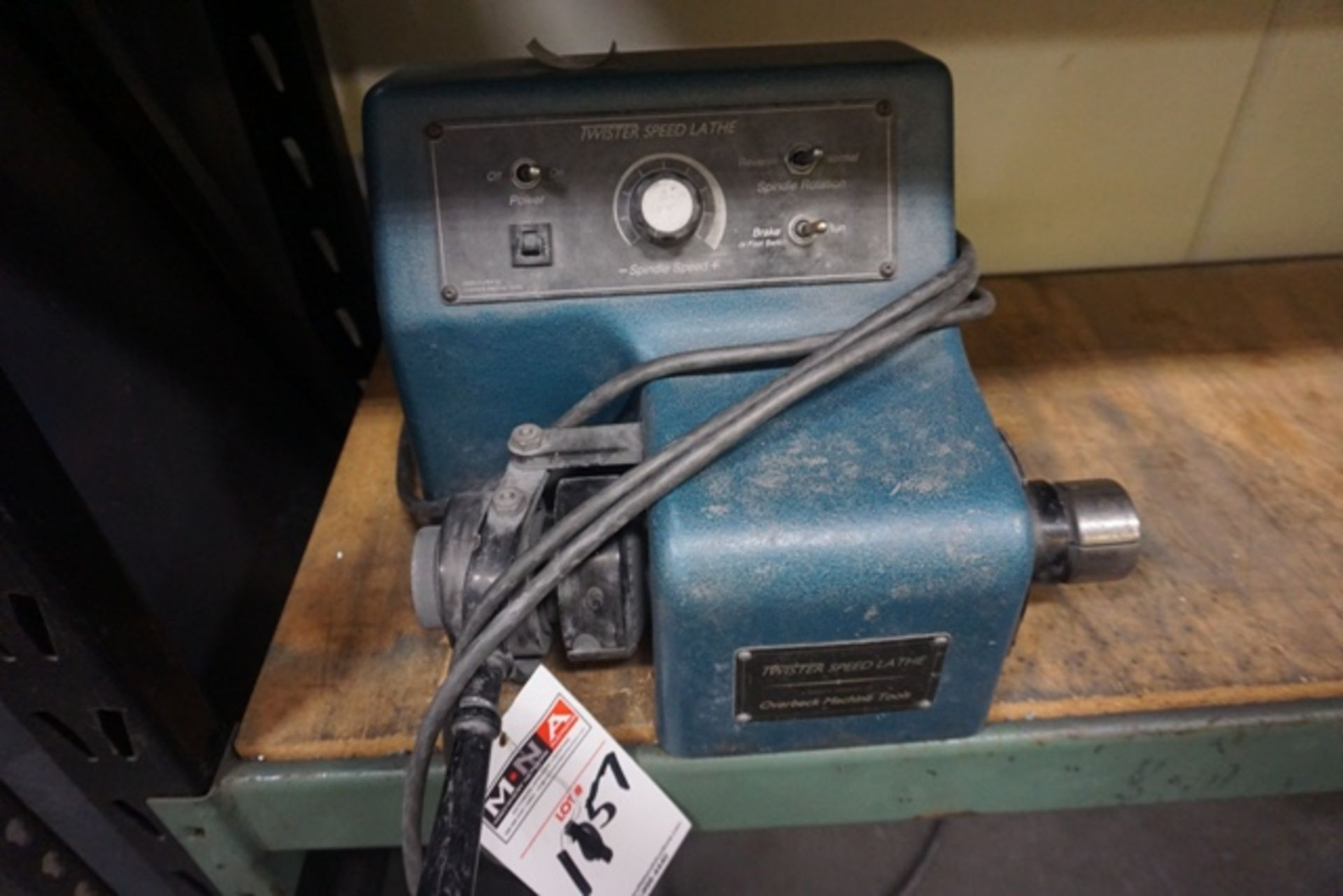 Lot 1157 - Overbeck Machine LT-1B Twister Speed Lathe, 5C Collet Bench Top Lathe