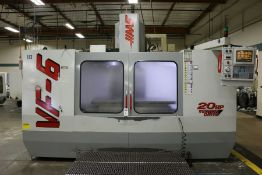 "Haas VF-6, 64"" x 32"" x 30"" Travels, 20 Position Tool Carousel, CTS, CT-40 Taper, s/n 12997, New 1998"