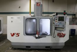 "Haas VF-5, 50"" x 26"" x 25"" Travels, 20 Position Tool Carousel, CT-40 Taper, s/n 24438, New 2000"