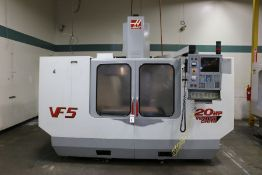 "Haas VF-5, 50"" x 26"" x 25"" Travels, 20 Position Tool Carousel, CT-40 Taper, s/n 21361, New 2000"