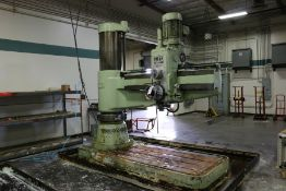 "6' 20"" Ooya RE3-2000 Radial Arm Drill, 79"" arm, 10 HP"