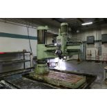 """6' 20"""" Ooya RE3-2000 Radial Arm Drill, 79"""" arm, 10 HP"""