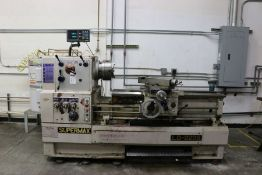 "Supermax LG-2236 Gap Bed Engine Lathe,11"" 3 Jaw Chuck, 3"" Bore, Sony Acu-Rite DRO, s/n AA8505-016,"