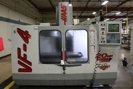 "Haas VF-4, 50"" x 20"" x 25"" Travels, 20 Position Tool Carousel, CTS, CT-40 Taper, s/n 14261, New 1998"