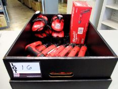 """(7) Milwaukee M4 1/4"""" Hex 2-Speed Screwdrivers and (5) chargers"""