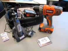 Ridgid 18v Lithium-Ion 2 Speed Drill/Driver with (2) batteries & charger and Dremel Micro 8050