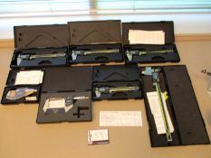 Lot of Mitutoyo Digimatic Micrometers & Calipers