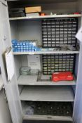 2 Door Cabinet with Assorted Inspection Equipment, Deltronic Pins, Air Gages, Thread Gages
