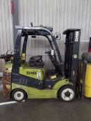 Clark C25 CL 4500lbs Cap. LPG Forklift, s/n C232100228586 *Needs Battery*