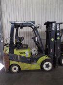 Clark C25 CL 4500lbs Cap. LPG Forklift, s/n C23200289588 *Needs Battery*