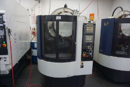 Hitachi Seiki DS-250, Fanuc 21iM control, New 2001