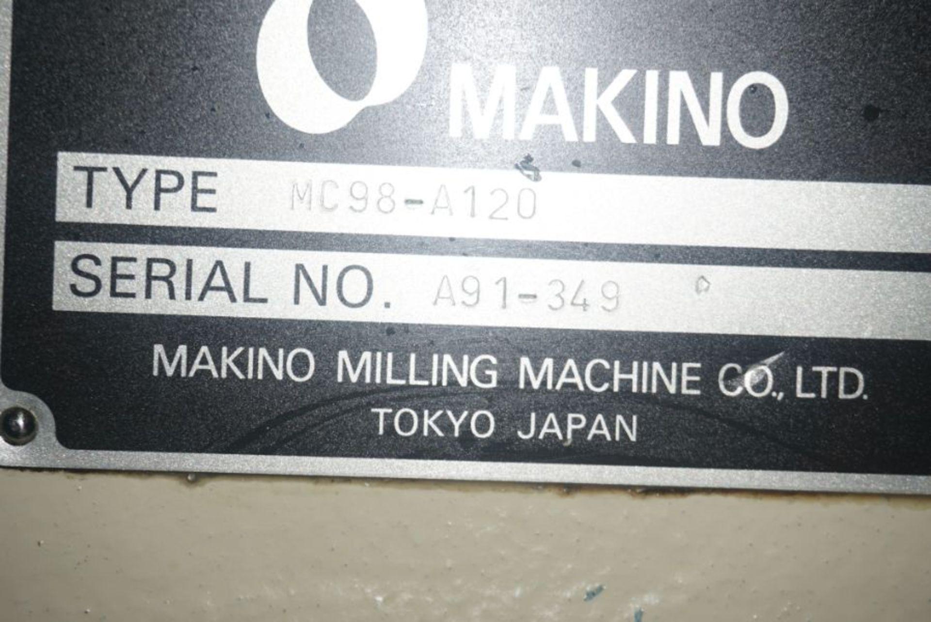 Makino MC98-A120 4-Axis Horizontal Machining Center, Fanuc 16 Pro 3 Control, New 1990 - Image 8 of 8