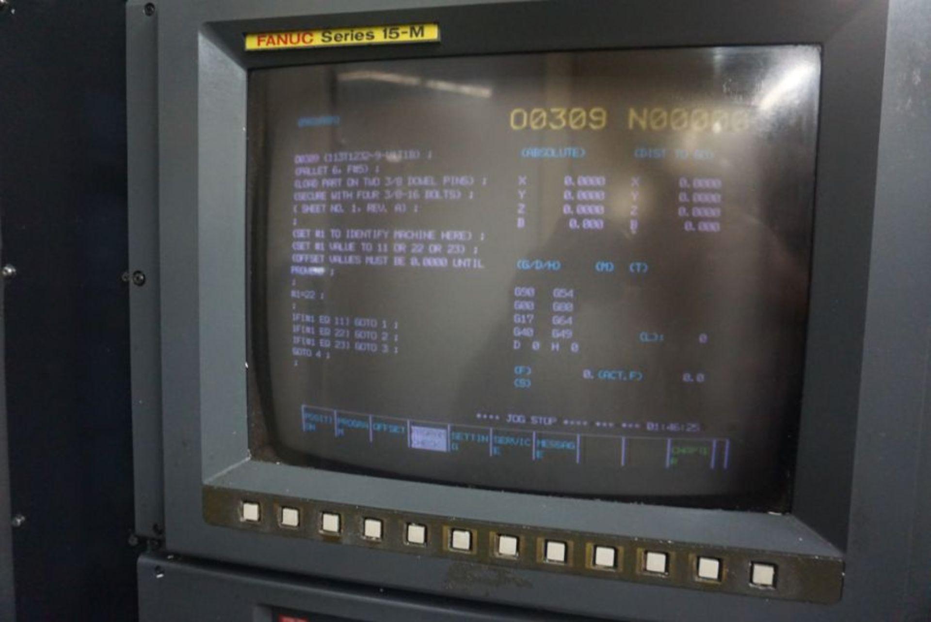 Makino MC98-A120 4-Axis Horizontal Machining Center, Fanuc 16 Pro 3 Control, New 1990 - Image 7 of 8