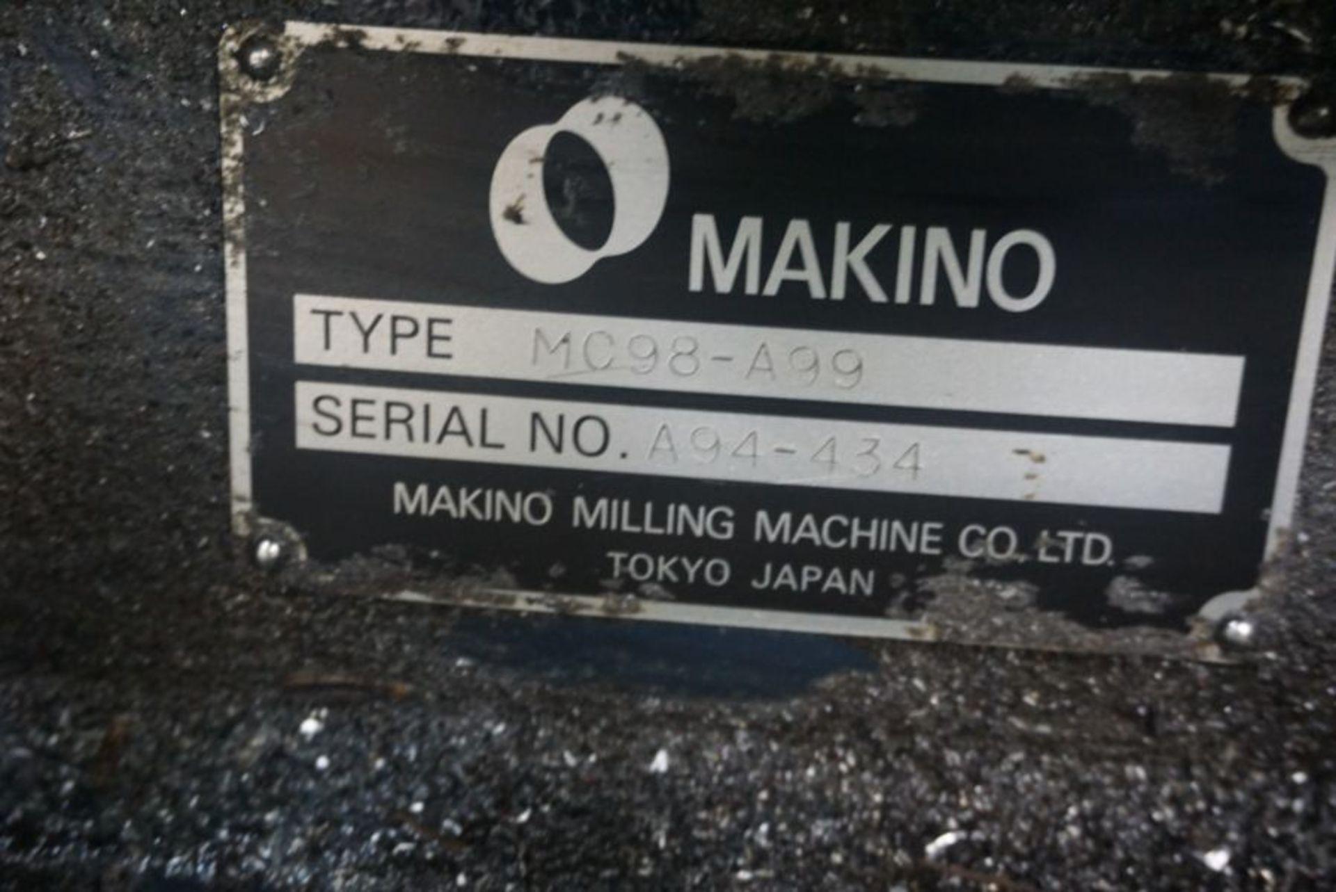 Makino MC98-A99 4-Axis Horizontal Machining Center, Fanuc 16 Pro 3 Control, New 1991 - Image 8 of 8