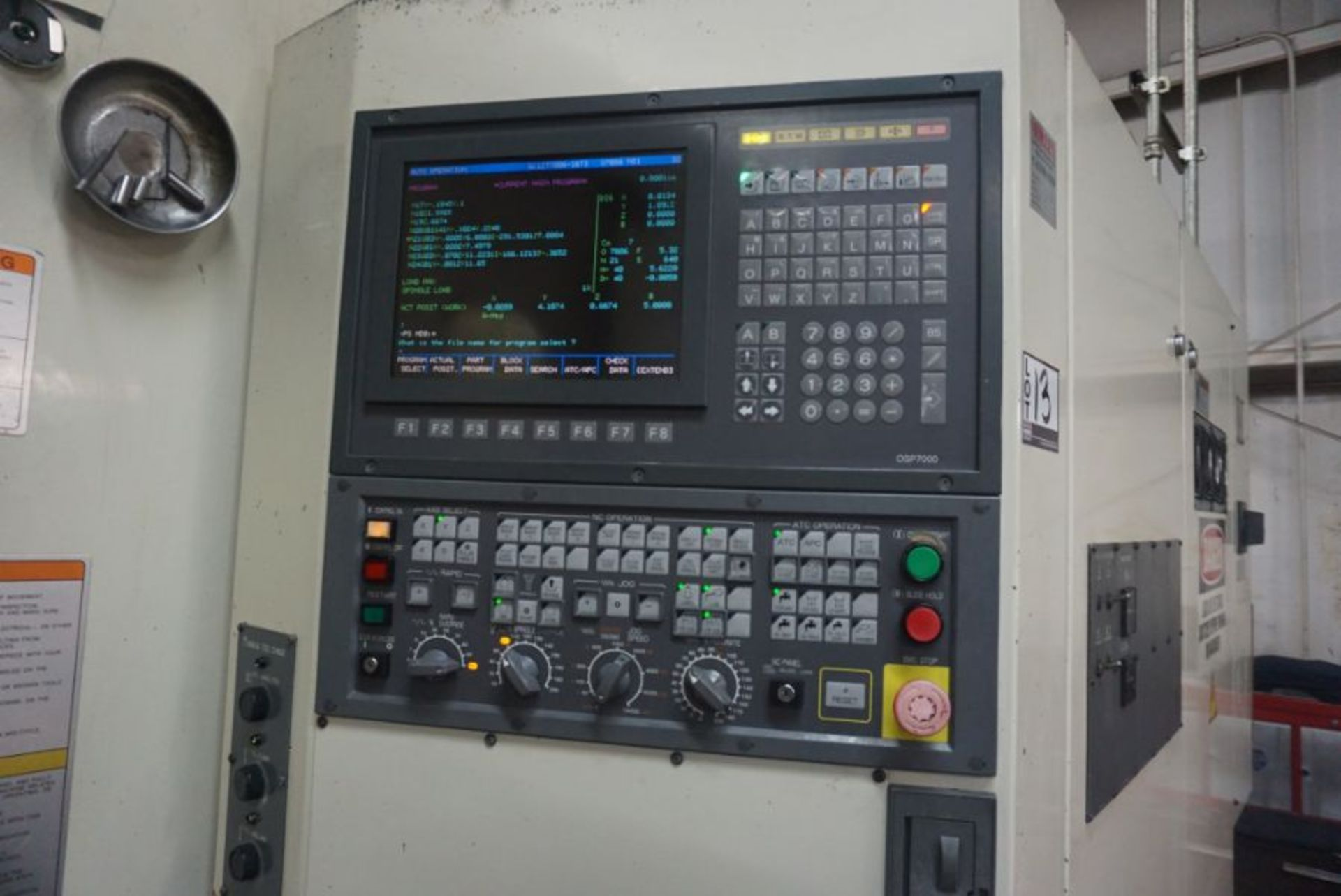 "Okuma 600H 4-Axis HMC, OSP 7000M Control, 39.45"" x 31.57"" x 29.64"" Travels, 360 Deg. B, (2) Pallets, - Image 6 of 8"