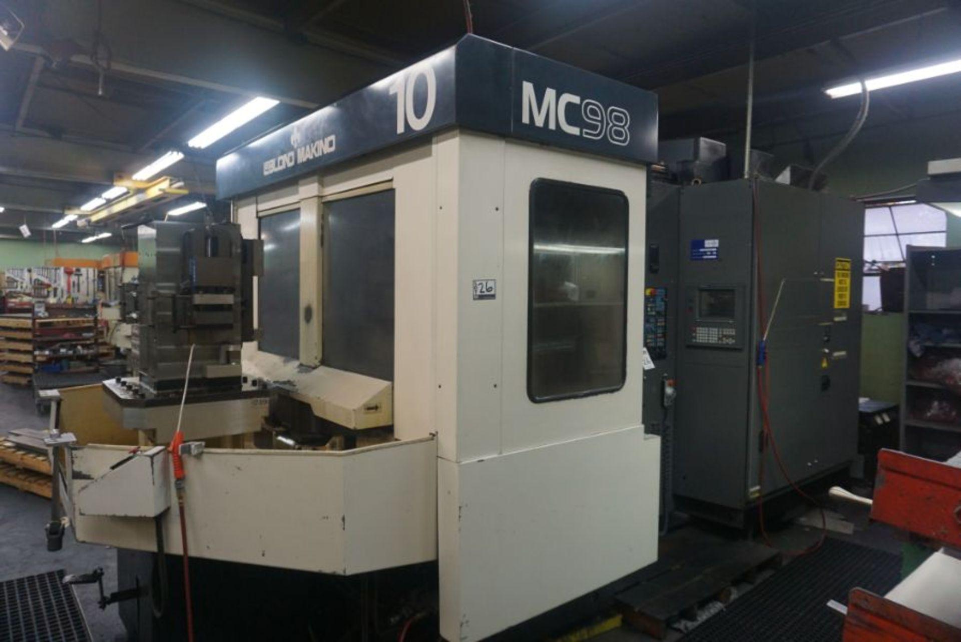 Makino MC98-A99 4-Axis Horizontal Machining Center, Fanuc 16 Pro 3 Control, New 1991