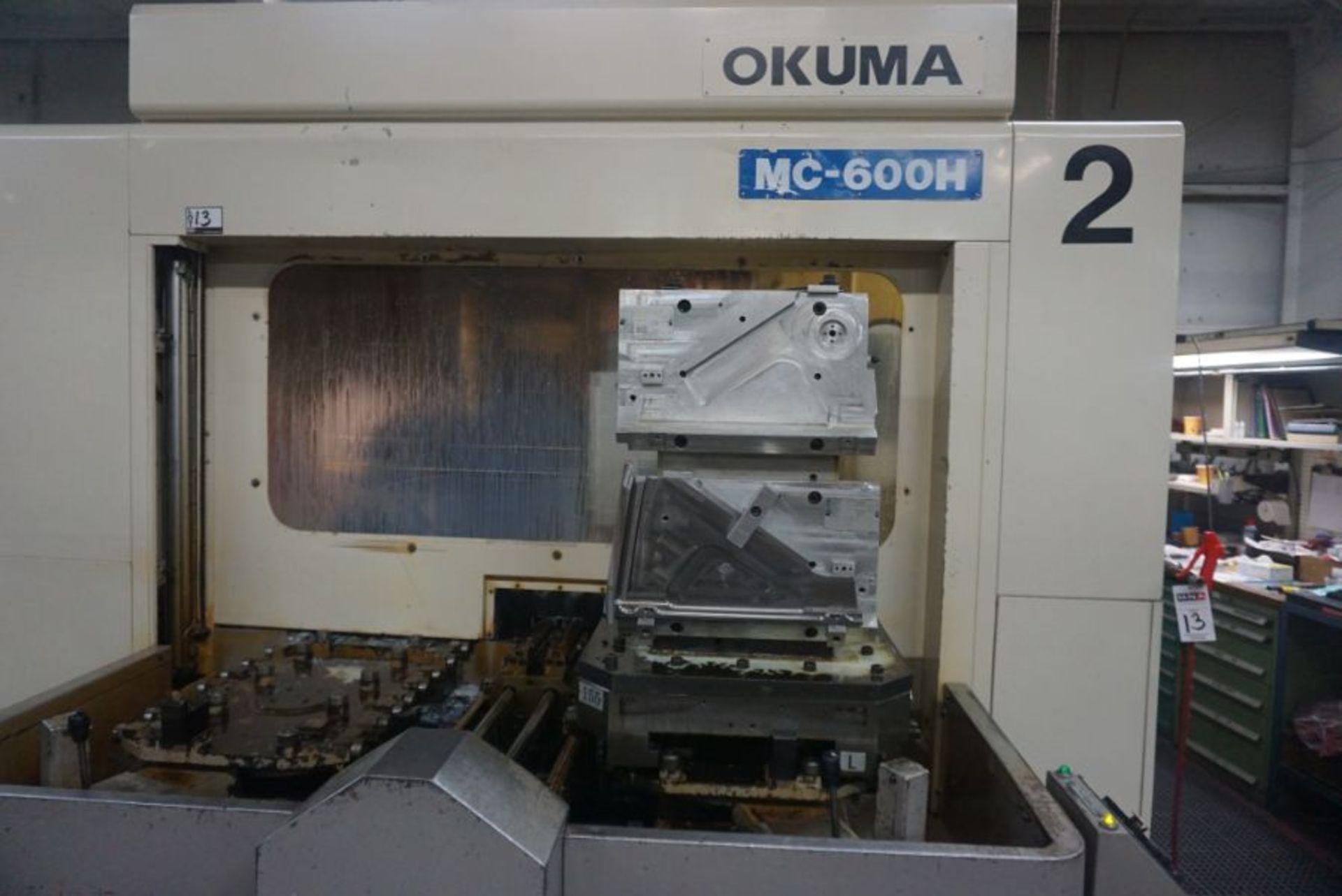 "Okuma 600H 4-Axis HMC, OSP 7000M Control, 39.45"" x 31.57"" x 29.64"" Travels, 360 Deg. B, (2) Pallets, - Image 5 of 8"