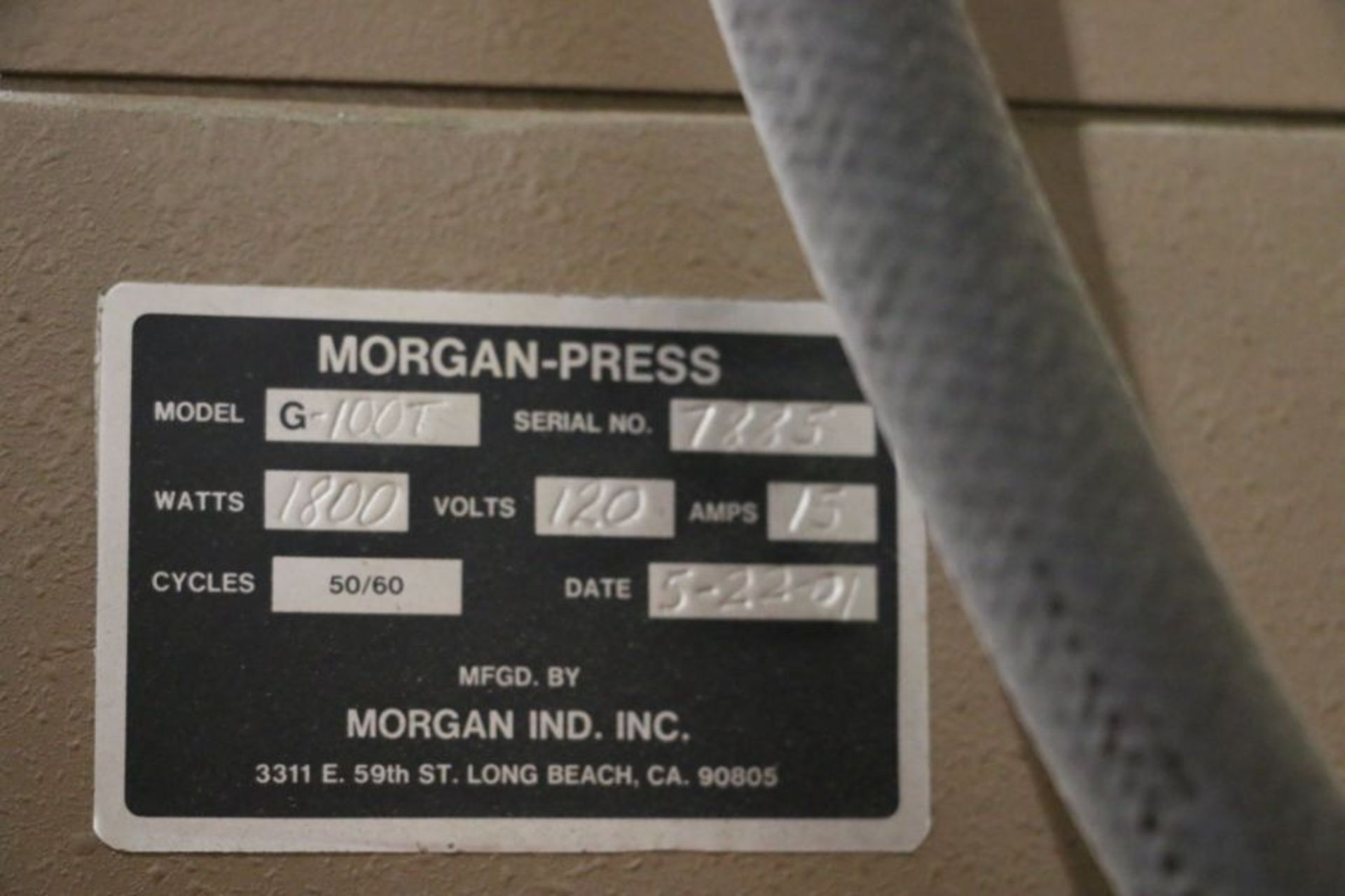 Morgan Press G-100T Vertical Plastic Injection Molding Press, New 2001 - Image 4 of 4