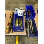 Assorted Hand Tools to include Levels, Adjustable Wrenches, Snap-Ring Pliers, Cutting Tools and