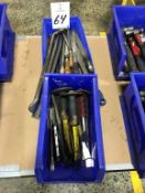 Assorted Hand Tools to include Metal Files, Prybars and chisels