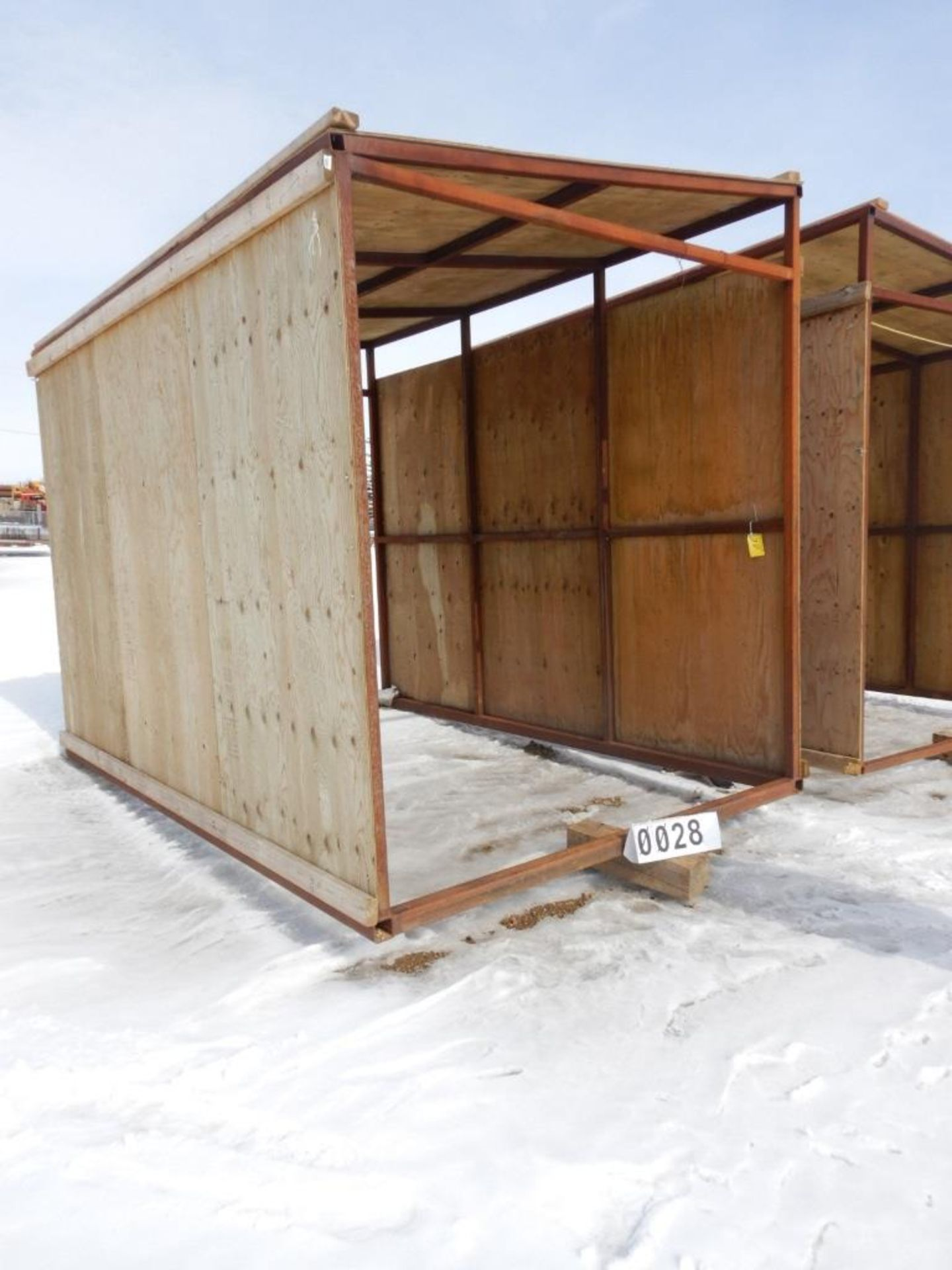 Lot 28 - 12'X8' STEEL FRAME WOOD CLAD FAB BUILDING