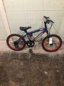 SUPER CYCLE TEAM BLUE SIZE 16 inches MTN Speed 0 Tag # 35
