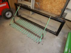 SHOP BUILT QUICK ATTACH POTATO DIGGER FOR FEL ON JD 1023E