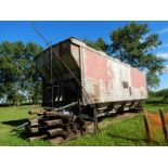32 FT +- GRAIN HOPPER CAR - NO WHEELS, LOCATED @ 39427 RNG RD 250, LACOMBE COUNTYTO VIEW: CALL TED @