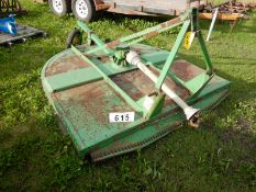 JD 616 6 FT X 3PT ROUGH CUT MOWER S/N W00616X0036124
