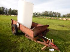 NH327 MANURE SPREADER TRAILER CHASSIS W/POLY WATER TANK